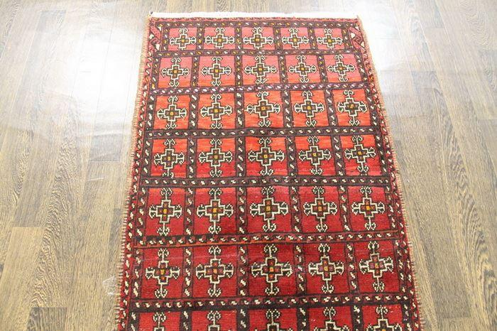 Traditional Vintage Handmade Rug 82x182cm The Rugs Outlet