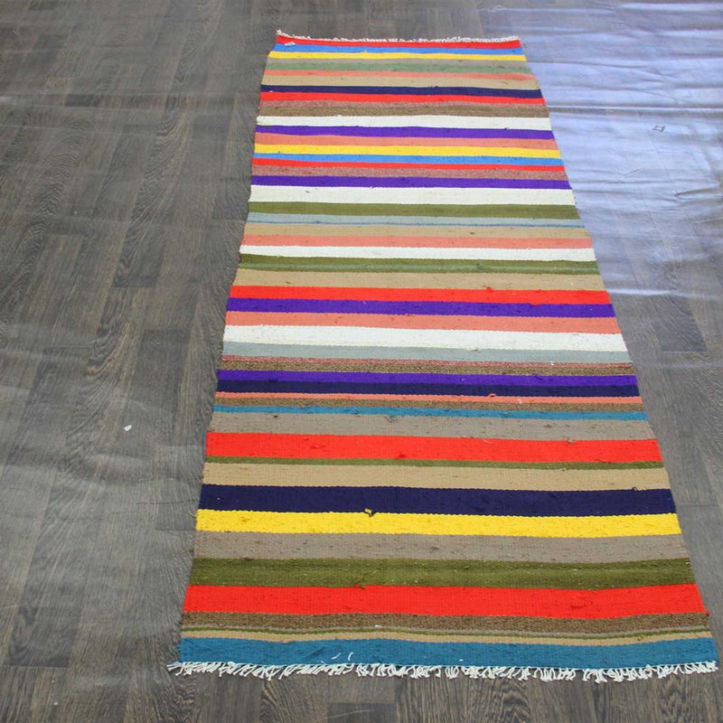 Traditional Vintage Handmade Rug 83x236cm - The Rugs Outlet