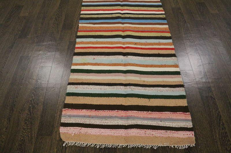 Traditional Vintage Handmade Rug 86x268cm - The Rugs Outlet
