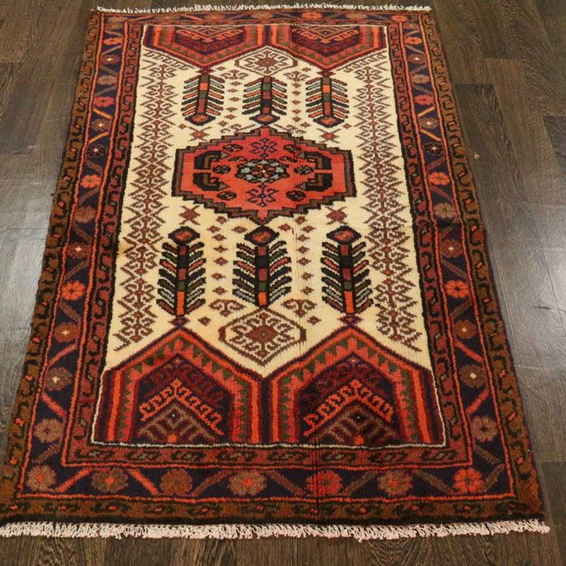 Traditional Vintage Handmade Rug 90x143cm - The Rugs Outlet