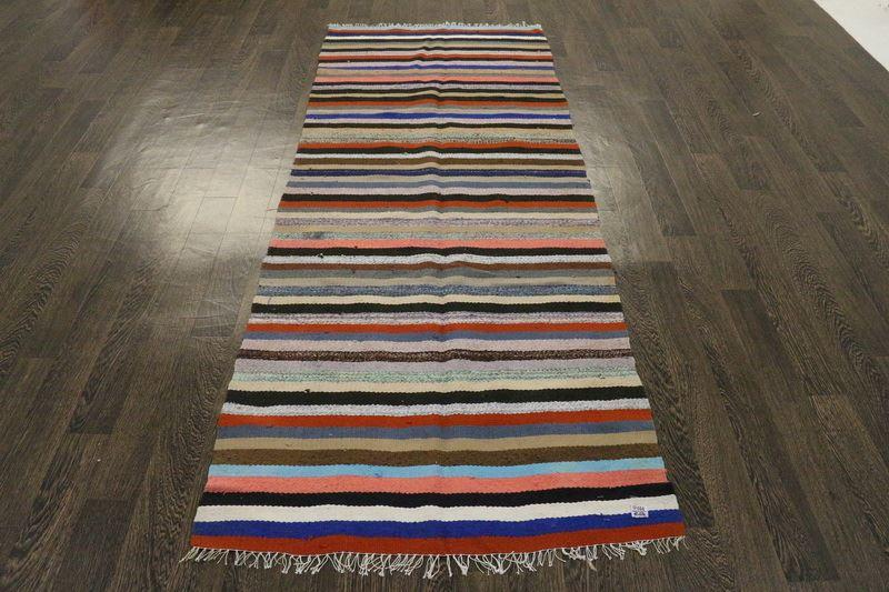Traditional Vintage Handmade Rug 90x230 - The Rugs Outlet