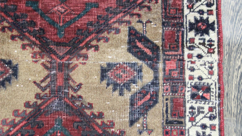 Traditional Vintage Handmade Rug 90x256cm - The Rugs Outlet