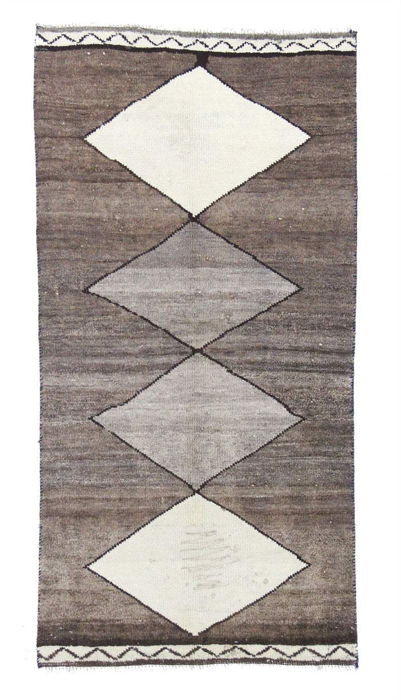 Traditional Vintage Handmade Rug 92x185cm - The Rugs Outlet