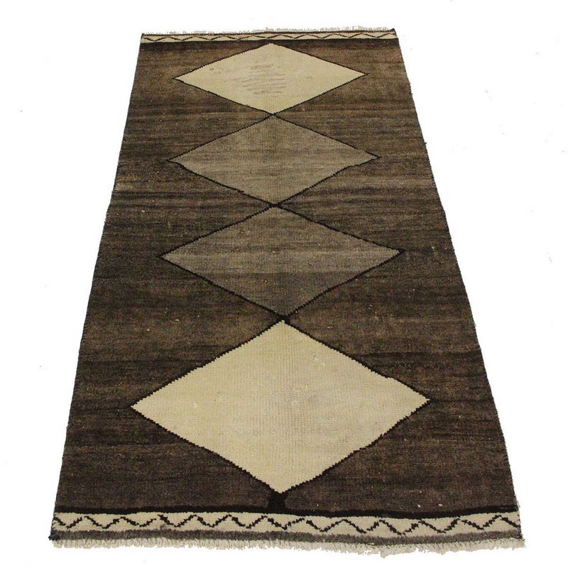 Traditional Vintage Handmade Rug 92x185cm The Rugs Outlet