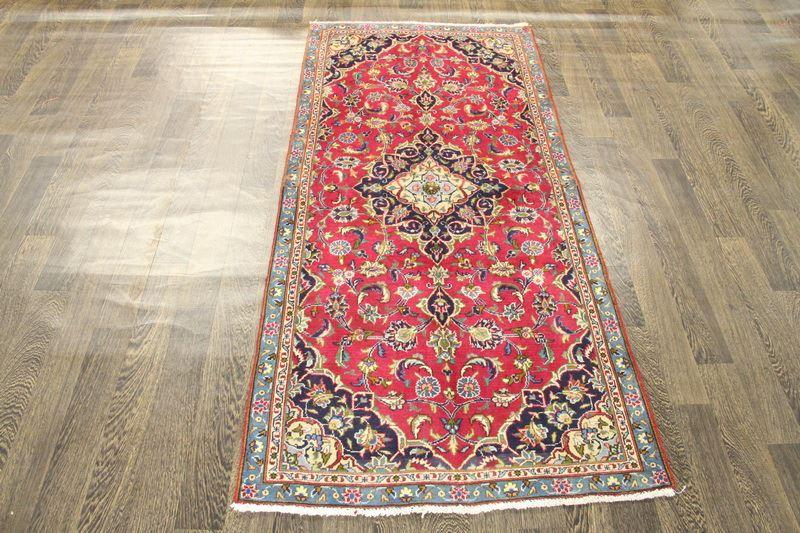 Traditional Vintage Handmade Rug 92x195cm - The Rugs Outlet