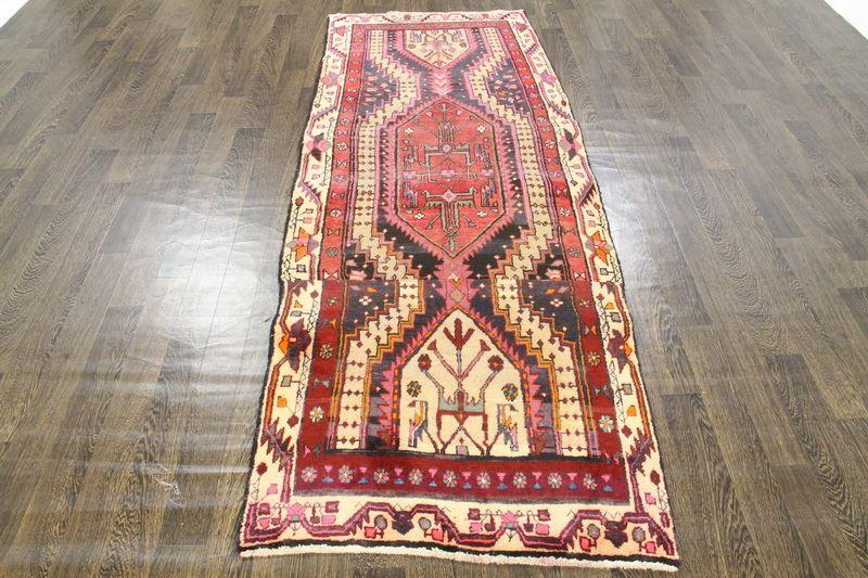 Traditional Vintage Handmade Rug 93x260cm - The Rugs Outlet