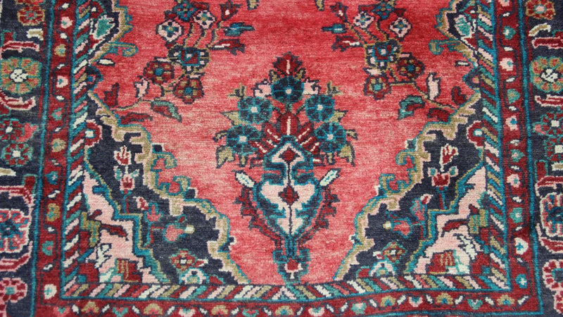 Traditional Vintage Handmade Rug 93x270cm - The Rugs Outlet
