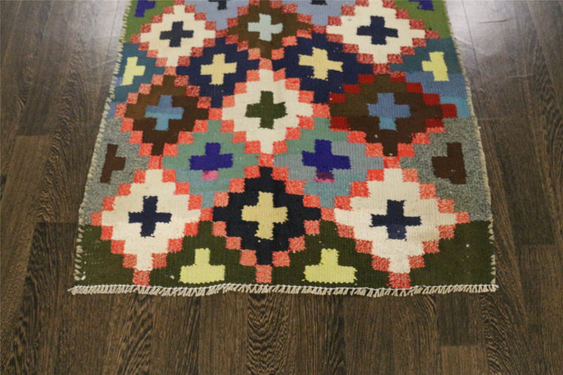 Traditional Vintage Handmade Rug 94x185cm - The Rugs Outlet