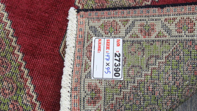 Traditional Vintage Handmade Rug 95x147cm - The Rugs Outlet