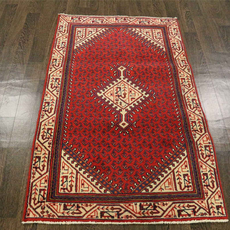 Traditional Vintage Handmade Rug 95x153cm - The Rugs Outlet