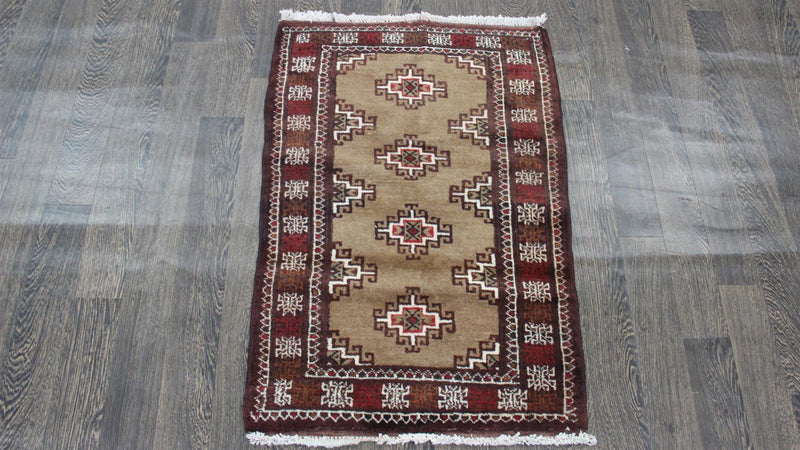 Traditional Vintage Handmade Rug 96x67cm - The Rugs Outlet