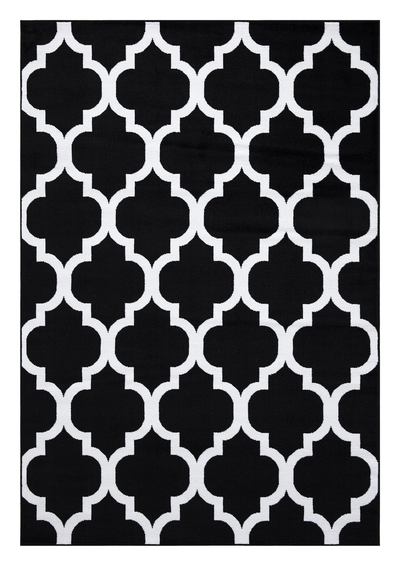 Trendy 09 Black Trellis Design Rugs - The Rugs Outlet