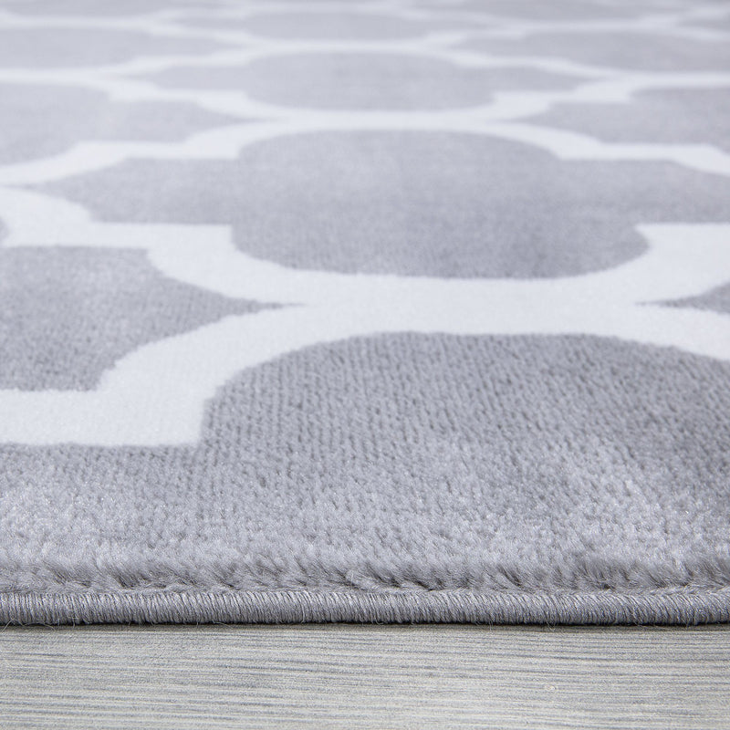 Trendy 09 Grey Trellis Design Rug - The Rugs Outlet