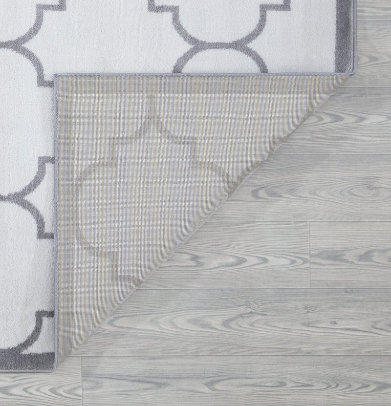 Trendy White Trellis Design Rugs - The Rugs Outlet