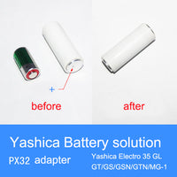 Battery Adapter For YASHICA ELECTRO 35, 4LR44 (PX28)--> PX32/HM-4N
