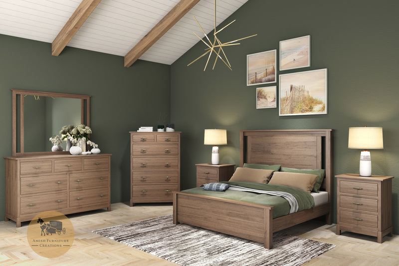 Platte River Brown Maple 6 Piece Bedroom Suite | Amish Furniture Creations ™
