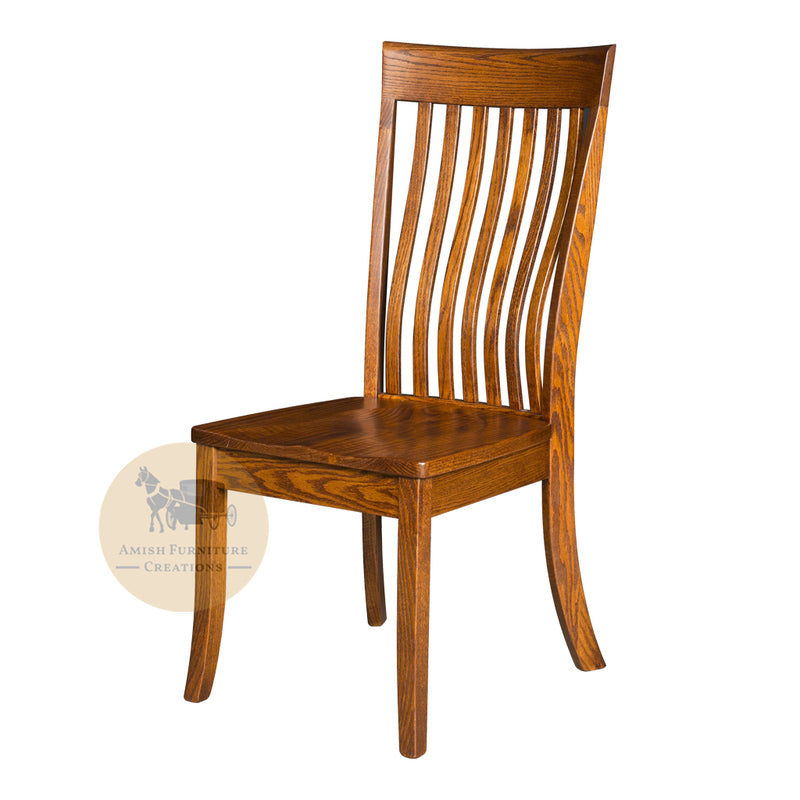 Amish made Baytown Side Chair in Solid Oak | Amish Furniture Creations ™