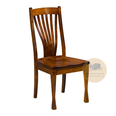 Amish made Lexington Side Chair in Solid Brown Maple | Amish Furniture Creations ™