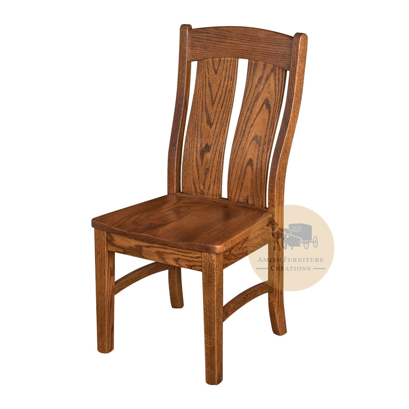 Amish made Mankato Side Chair in Solid Oak | Amish Furniture Creations ™