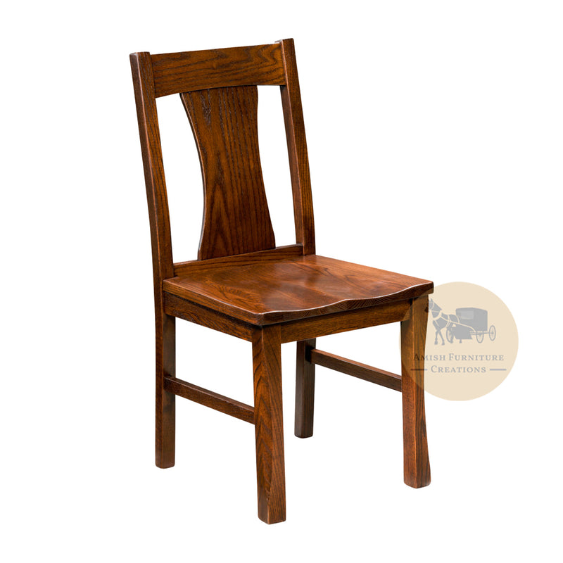 Amish made Sheridan Side Chair in Solid Oak | Amish Furniture Creations ™