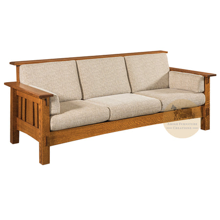 Amish made McCoy Mission Sofa - Quarter Sawn White Oak - Amish Furniture Creations ™