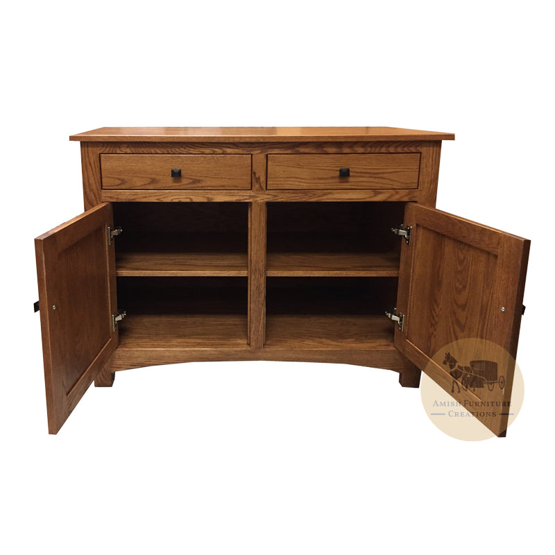 "Amish made Classic Oak Buffet 40"" w - open - Amish Furniture Creations ™"