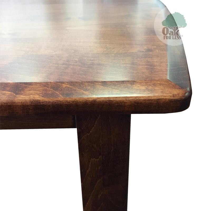 Amish made Hatfield Table and 6 Wood Seat Side Chairs in Solid Brown Maple - Oak For Less® Furniture