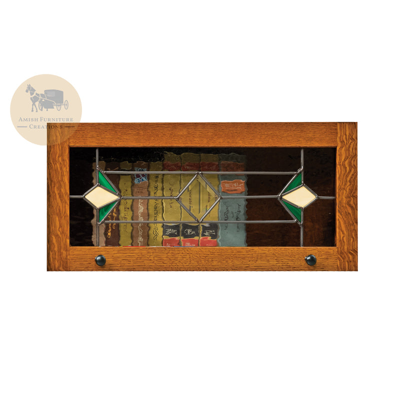 Leaded Glass LGTU for Lexington Arc Barrister Bookcase | Amish Furniture Creations ™