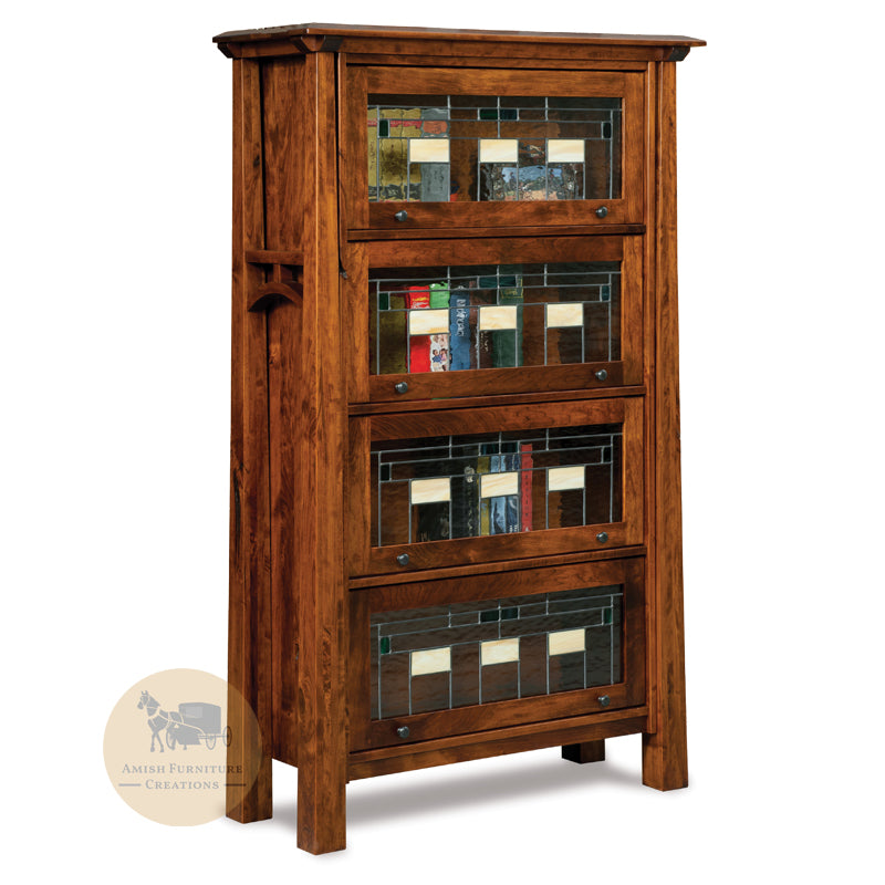 Artesa Barrister Bookcase with 4 doors | Amish Furniture Creations ™