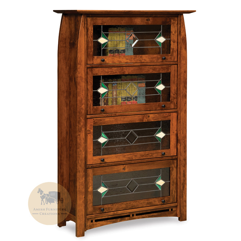 Boulder Creek Barrister Bookcase with 4 doors | Amish Furniture Creations ™
