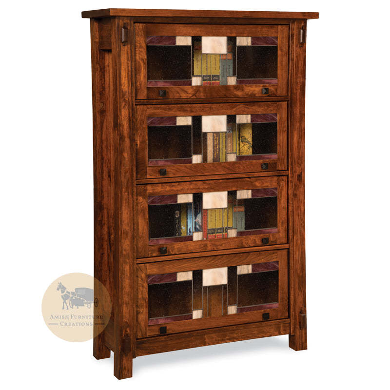 Craftsman Barrister Bookcase with 4 doors | Amish Furniture Creations ™