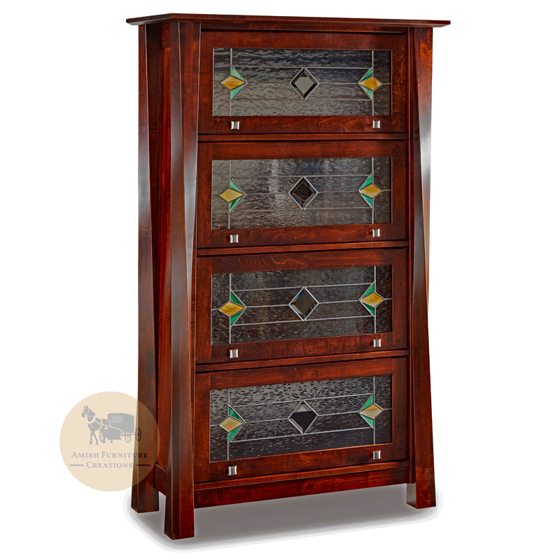 Lexington Arc Barrister Bookcase with 4 doors | Amish Furniture Creations ™