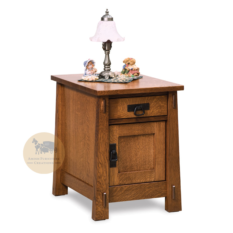 Modesto Enclosed End Table | Amish Furniture Creations ™