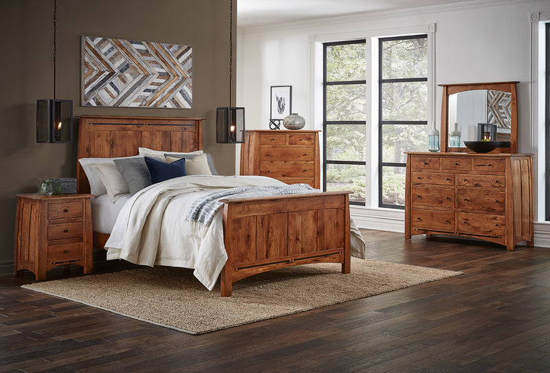 Boulder Creek Solid Rustic Hickory 6 Piece Bedroom Suite | Amish Furniture Creations ™