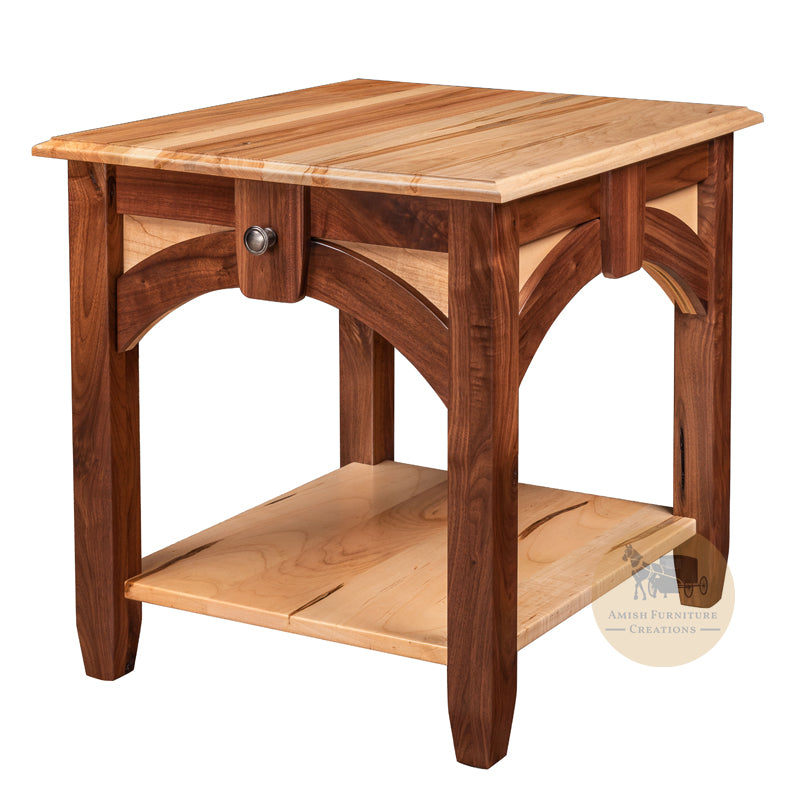 Kensing End Table 2 Woods | Amish Furniture Creations ™