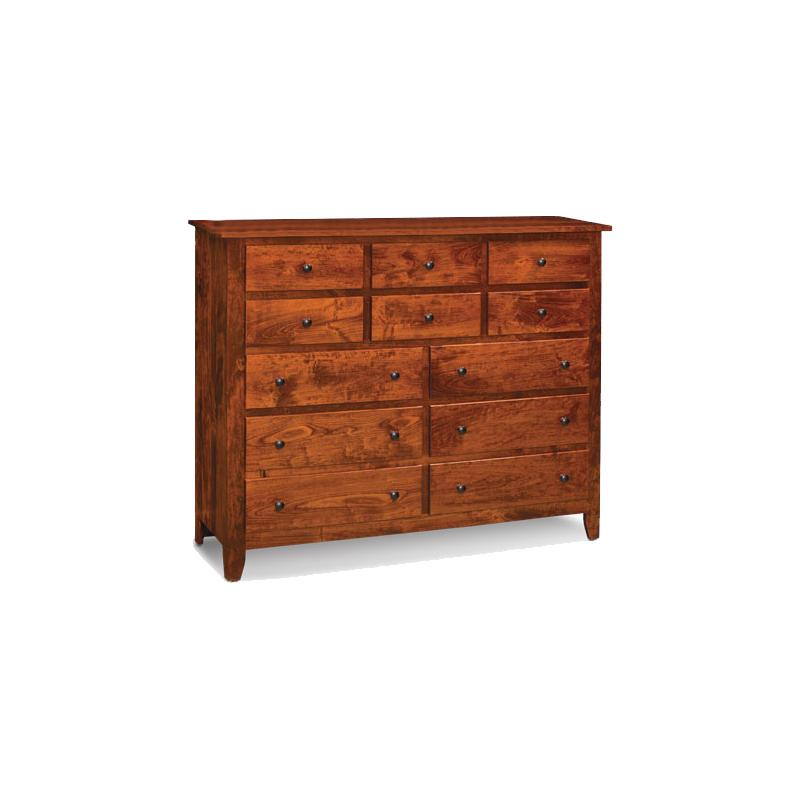 Amish made Shenandoah 12 Drawer Bureau - Amish Furniture Creations™