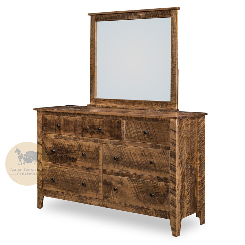 Livingston 7 Drawer Dresser with Mirror | Amish Furniture Creations ™