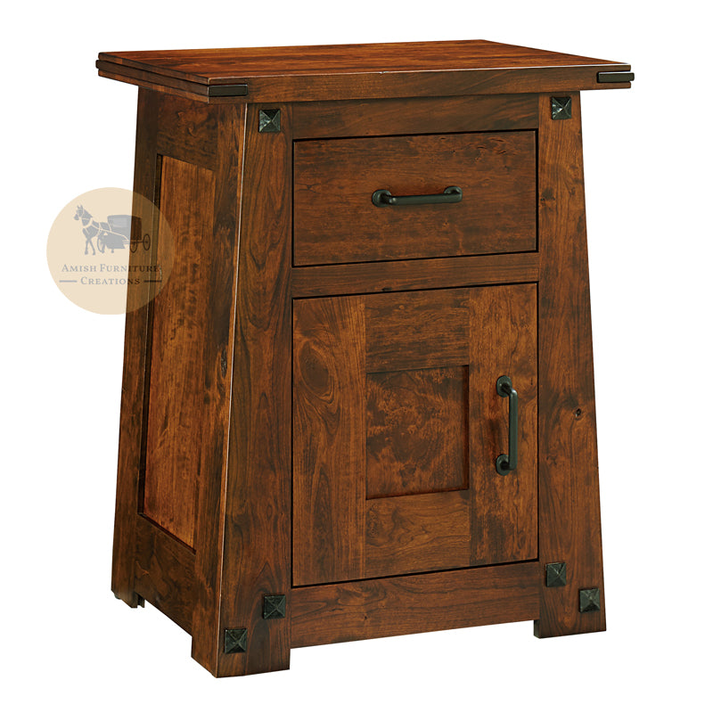Encada 1 Door 1 Drawer Nightstand | Amish Furniture Creations ™