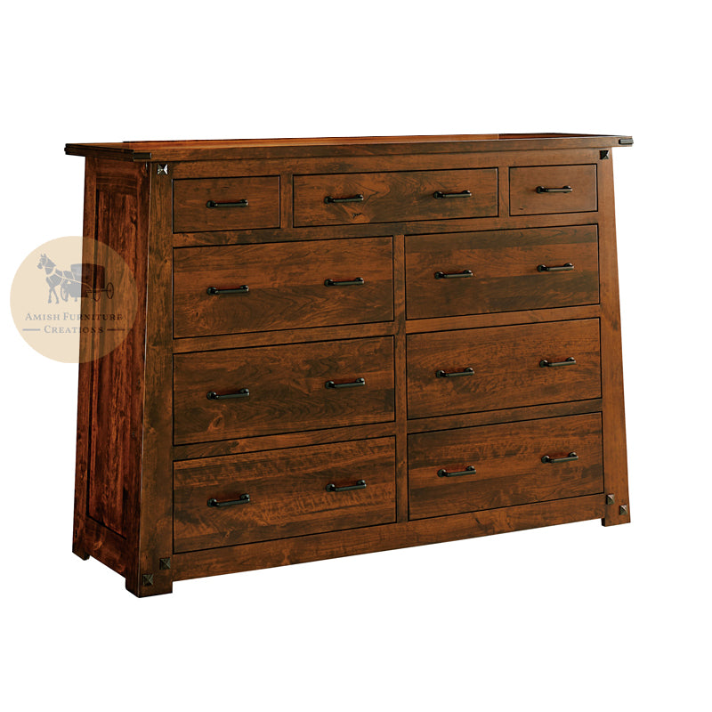Encada 9 Drawer Dresser | Amish Furniture Creations ™