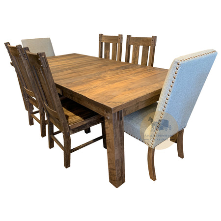 Amish made Houston Leg Table Set in Solid Brown Maple | Amish Furniture Creations ™