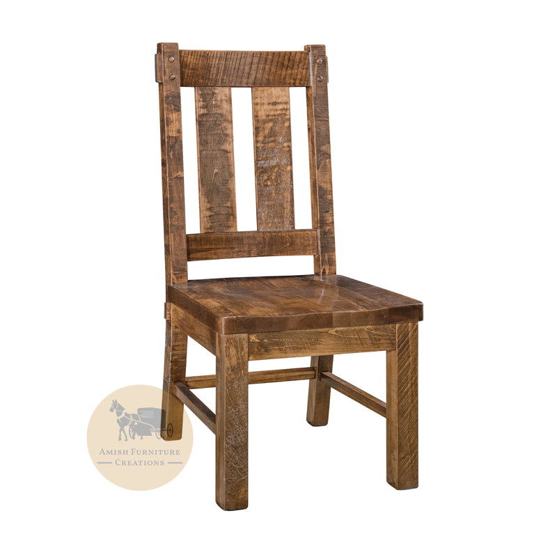 Amish made Houston Side Chair in Solid Brown Maple | Amish Furniture Creations ™
