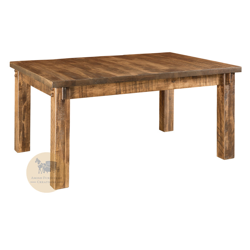Amish made Houston Leg Table in Solid Brown Maple | Amish Furniture Creations ™