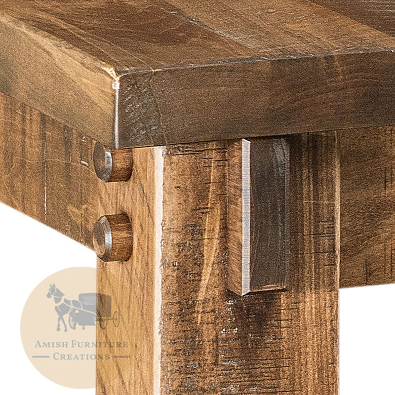 Amish made Houston Leg Table in Solid Brown Maple - detail | Amish Furniture Creations ™