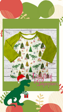 Load image into Gallery viewer, I'm Dreaming of a Dino Christmas Raglan