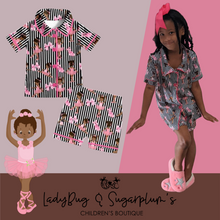 Load image into Gallery viewer, Brown Sugar Lovely Ballerina Pajamas/ Lounge Set