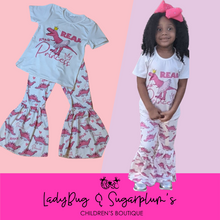 Load image into Gallery viewer, Princess Dinosaur Shirt & Bell Pants Boutique Outfit Set