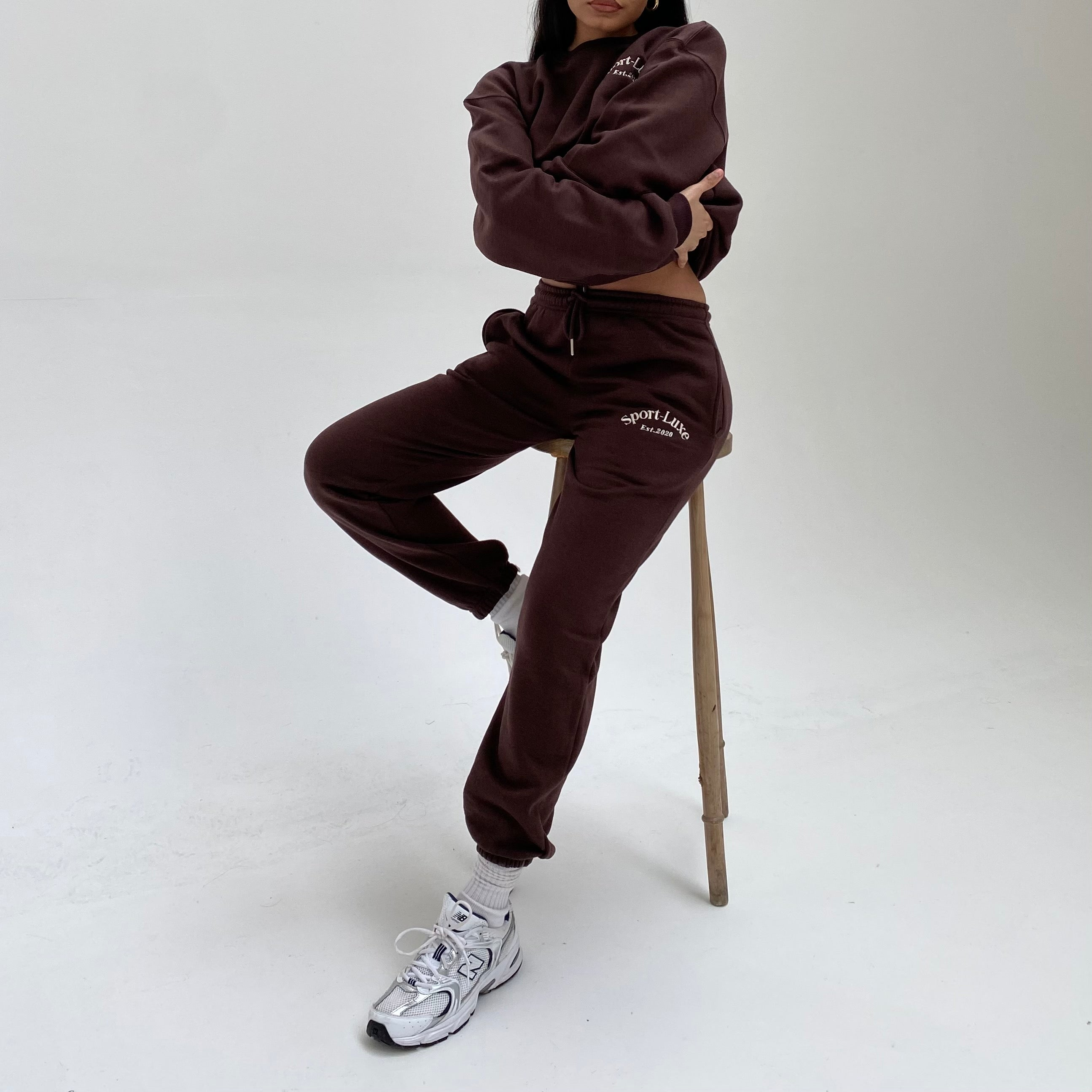 Brown Logo Joggers