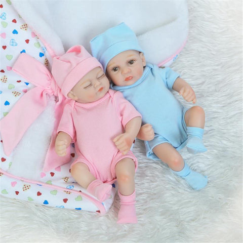 Share to: NPK 10 Inch 26cm Newborns Reborn Baby Soft Silicone Doll Handmade Lifelike Baby Girl Dolls Play House Toys Birthday Gift - Pink