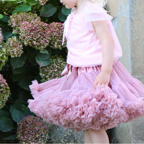 Kid Girls Lovely Bowknot Tulle Dance Princess Tutu Skirts Multi Colors - Pink M