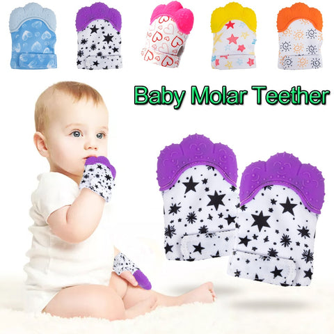 Baby Molar Gloves Anti-bite Toddler Chew Toy Baby Teether Food Grade Silicone Teethers Infant Teething Glove D20